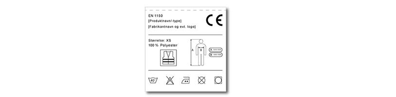 Illustration af eksempel på mærkning af refleksprodukt